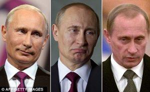 プーチン顔変化